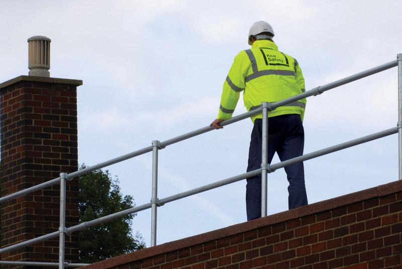 Non-penetrating Roof Guardrailing