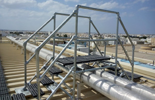Crossover Platforms Safely Navigate Rooftop Pipes Ducts