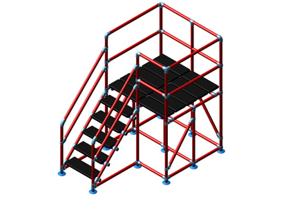 Custom Walkup Work Platform